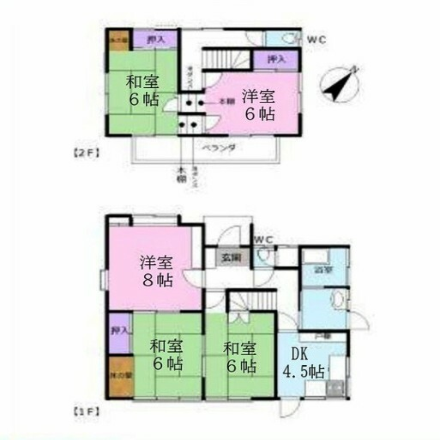 間取り図 個々のお部屋も充実の5DK。 テレワークスペースも確保できます。