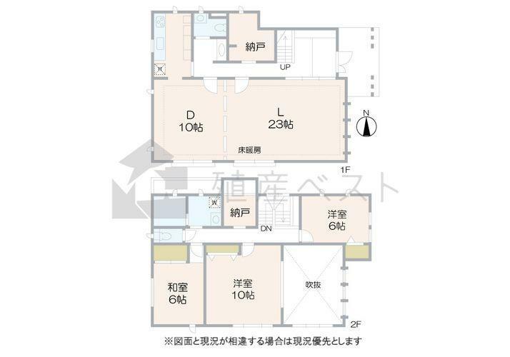 間取り図 間取図全居室6帖以上の快適住空間が広がります。ライフスタイルに合わせて使い方様々、テレワーク時にも大活躍な納戸スペースもございます。