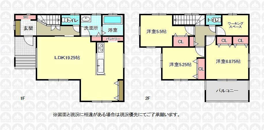 間取り図 1号棟、価格5680万円、3LDK、土地面積100.66m2、建物面積94.18m2