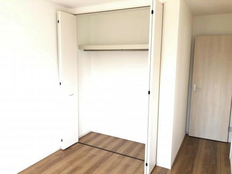 【洋室】全洋室にクローゼットを完備。居室空間を有効に使える快適スペースを実現