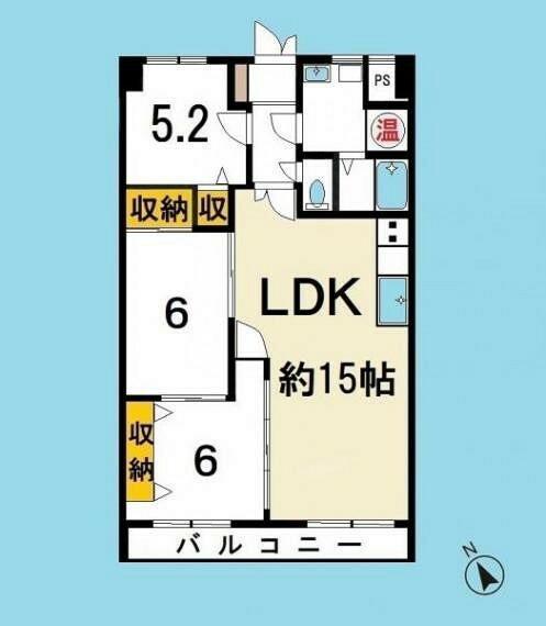 間取り図 LDKを15帖の広い空間に造り替え和室を全て洋室にリフォーム致しました。