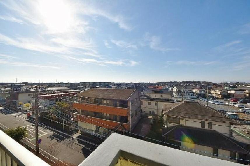眺望 バルコニーからの眺望です。さえぎる建物もなく壮大な景色が一望できます。