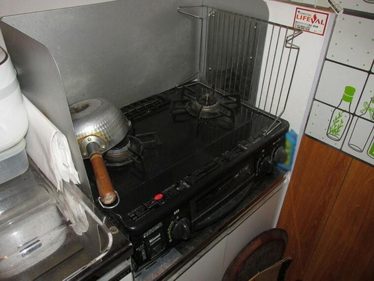 キッチン グリル付き2口ガスコンロ
