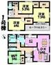 間取り図 3LDK+S リビング16帖  各部屋にWIC付き  納戸はお部屋としても使用できます