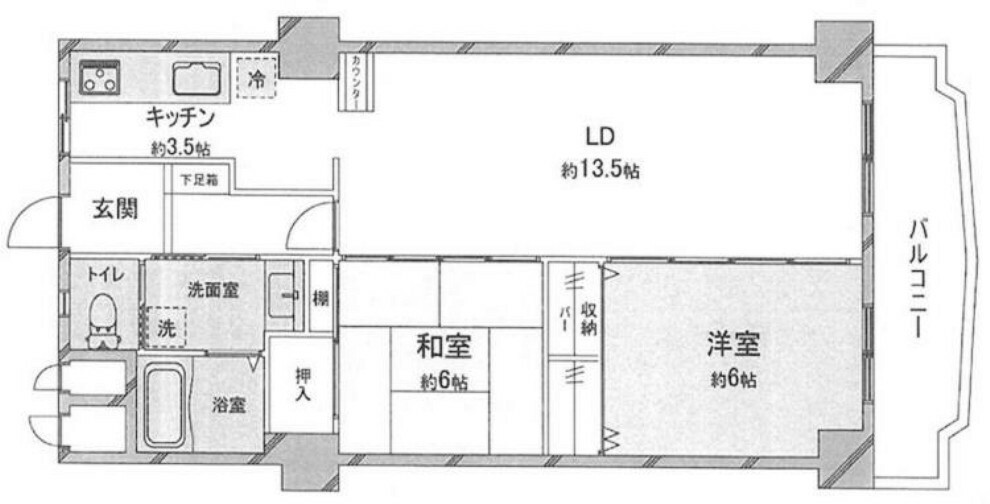 間取り図 2LDK