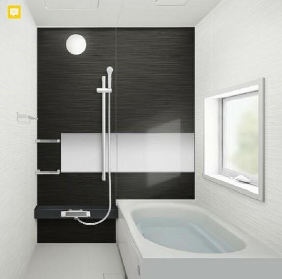 専用部・室内写真 【同仕様写真】浴室はハウステック製の新品のユニットバスに交換します。足を伸ばせる1坪サイズの広々とした浴槽で、1日の疲れをゆっくり癒すことができますよ