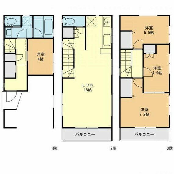 参考プラン間取り図 4号棟参考プラン 建物価格(1540万円) 建物面積(108.00m2)