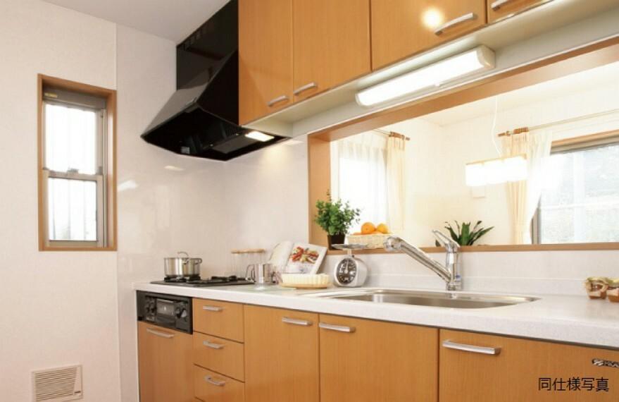 キッチン 効率的かつ暮同仕様建物のキッチン。カラーは異なることがございます。