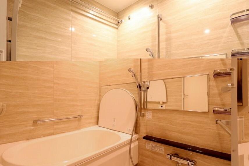 浴室 【風呂】心身の疲れを癒すリラクゼーションを満喫できる浴室。優雅な雰囲気に包まれて入浴でき、すべてを忘れてヒーリングタイムに浸れます。