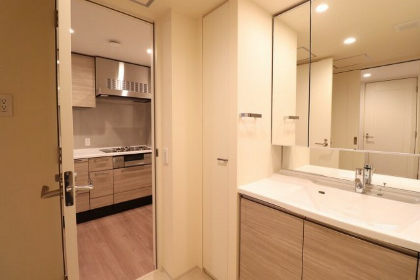 洗面化粧台 【独立洗面所】ホテルのような洗面所です。収納も多く 清潔感のある洗面所です。