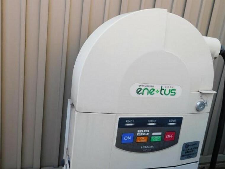 駐車場 電気自動車EV充電設備がついています