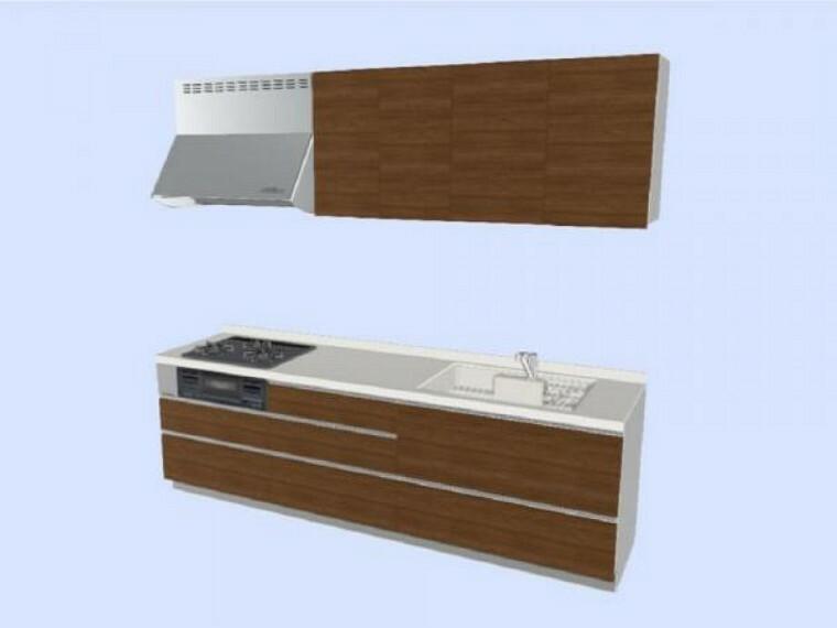 キッチン 【同仕様写真】キッチンは永大産業製の新品に交換します。天板は人工大理石製なので、熱に強く傷つきにくいため毎日のお手入れが簡単です。