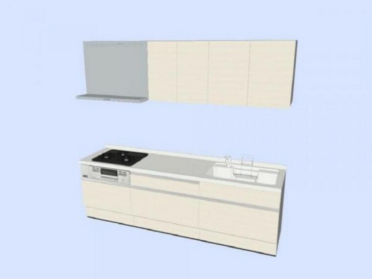 キッチン 【同仕様写真】キッチンはハウステック製の新品に交換します。引出が7つの嬉しい多収納タイプ。天板は熱や傷にも強い人工大理石仕様なので、毎日のお手入れが簡単です。