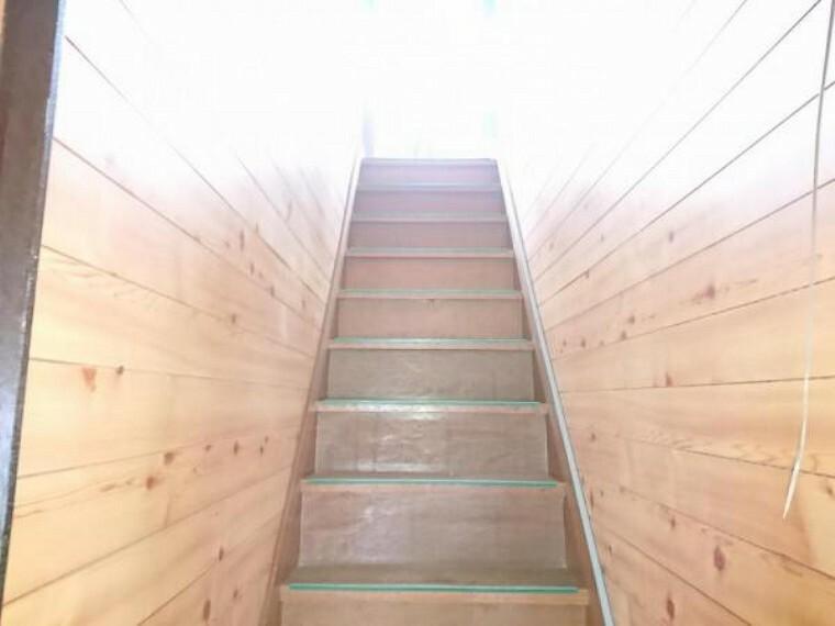 【リフォーム中】階段です。手摺を新設します。