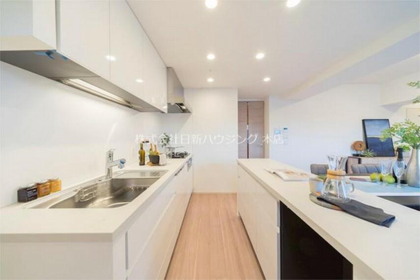 キッチン 【令和2年8月新築】広々としたキッチンのため、料理が捗ります!