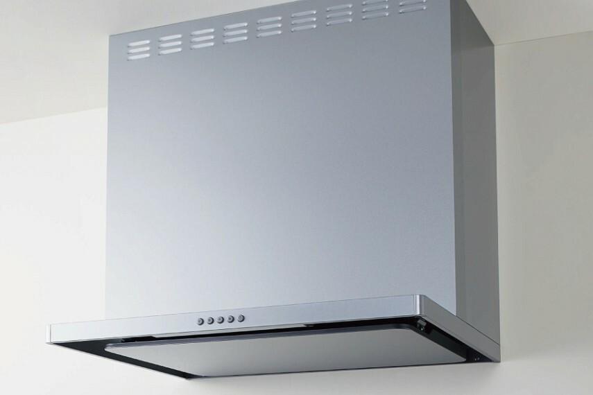 キッチン/クリナップ「レンジフード」  凹凸を減らしたシンプルでスリムなデザインのレンジフードです。