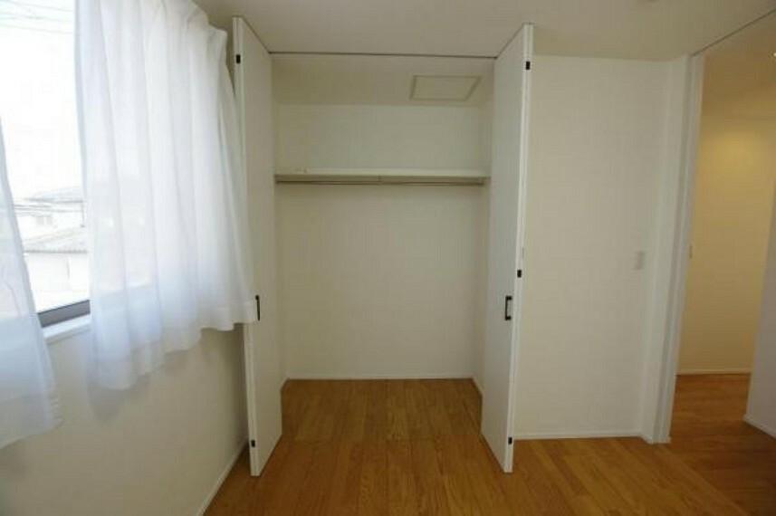 各部屋収納確保でお部屋を広々使うことができます