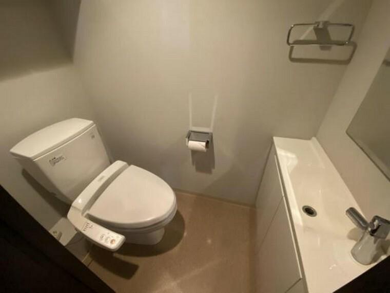 トイレ トイレスペース。 手洗い場もあります。