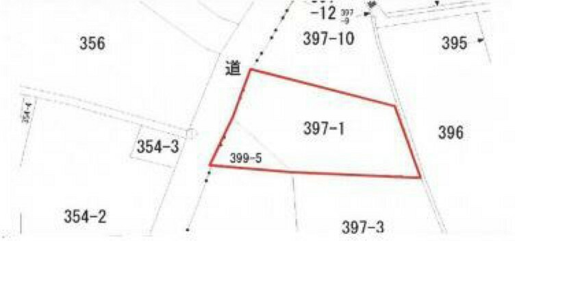 区画図 約63坪のゆとりの敷地。