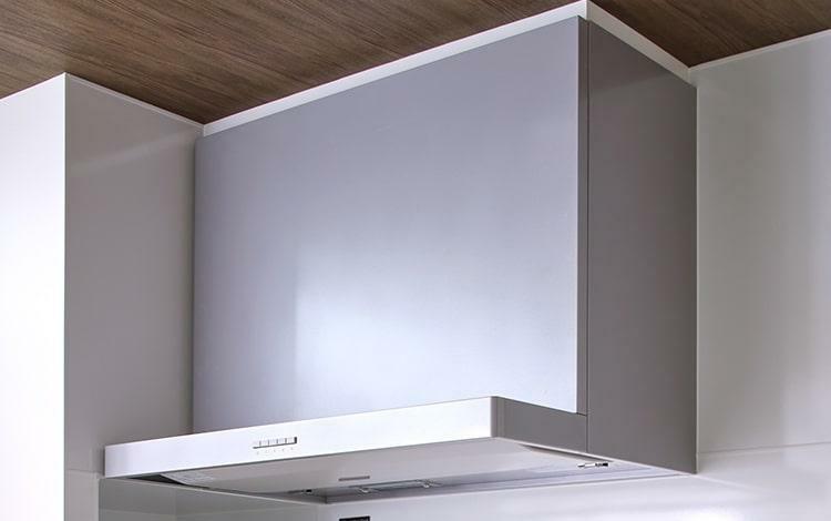 キッチン ホーロー整流板付レンジフード  お手入れがしやすいホーロー製の整流板。高機能で清潔なキッチンを実現します。