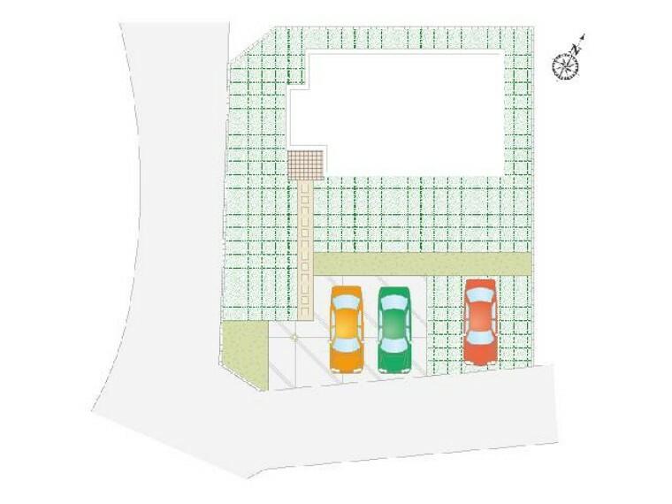 区画図 城内町 区画図・・・84.14坪のゆとりある区画です。