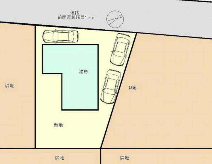 区画図 区画図です。3台駐車可能です。