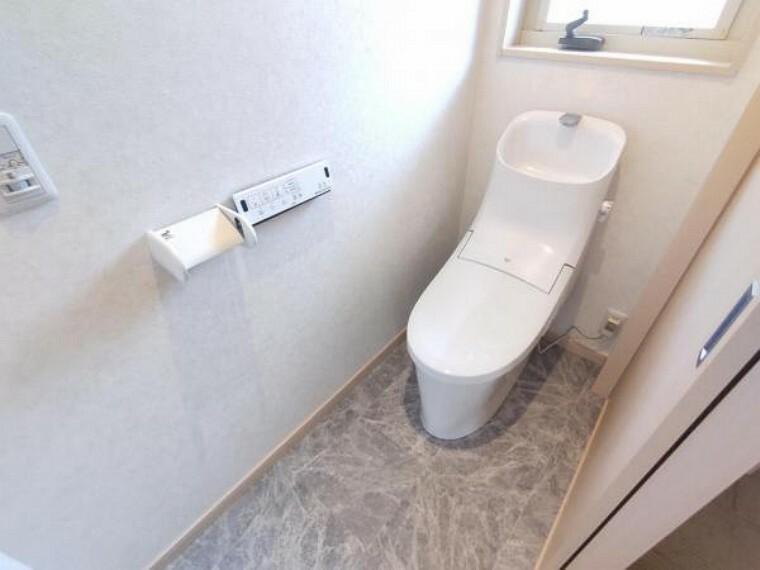 トイレ 【リフォーム済】トイレは丸ごと便器交換を行い、床やクッションフロアも張替えました。