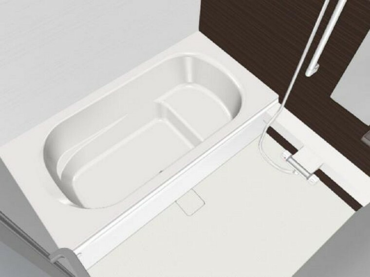 浴室 【同仕様写真】浴室はハウステック製の新品のユニットバスに交換します。浴槽には滑り止めの凹凸があり、床は濡れた状態でも滑りにくい加工がされている安心設計です