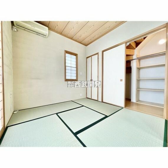 専用部・室内写真 南側4.5帖の和室の壁は拘りの珪藻土です!