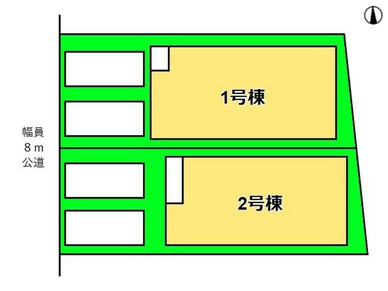 区画図 全体区画図 【名古屋市千種区若水3丁目】