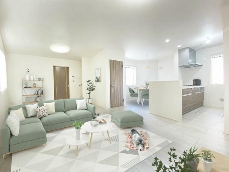 居間・リビング リビング(配置してある家具はCGによるイメージです)
