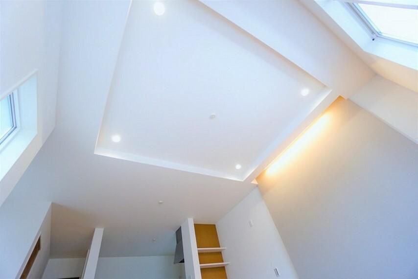 居間・リビング 天井が高くなることはもちろんおしゃれでより広い空間に。