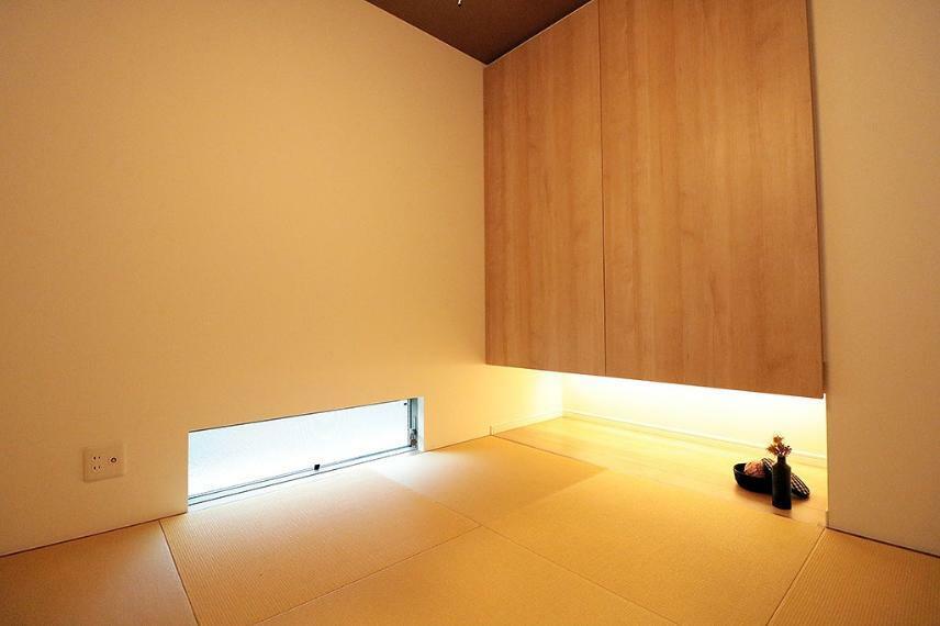 和室 施工例■1階の和室は客間として使用したり、趣味の部屋として、ちょっとした家事をしたりと用途は多様です。