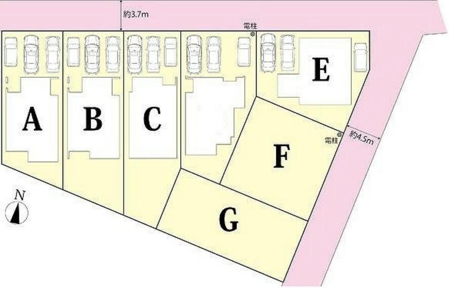 区画図 全体区画図:B棟