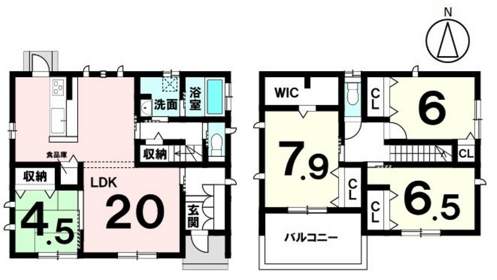 間取り図 4LDK+パントリー+ウォークインクローゼット