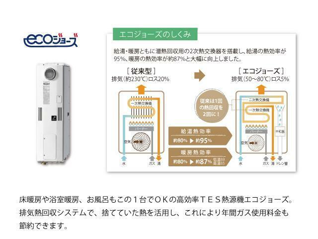 発電・温水設備 高効率TES熱源機エコジョーズ