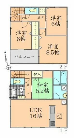 間取り図 間取り 全居室収納スペース付でスッキリ片付く住まい。