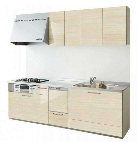 専用部・室内写真 【同仕様写真】キッチンは永大産業製の新品に交換します。水はねを抑える静音シンクを標準採用。家族との会話を妨ぎません。