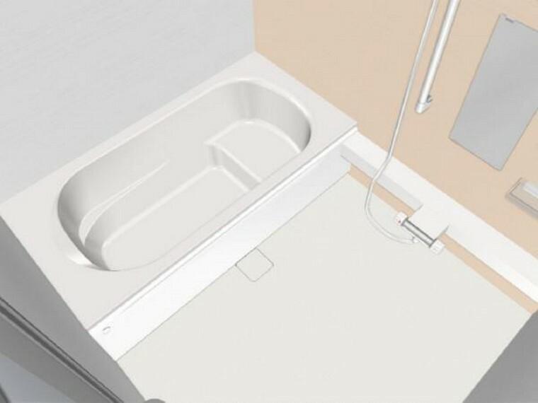 浴室 【同仕様写真】新品ハウステック製の1.25坪サイズの広いユニットバスを設置予定。浴槽は、ベンチ付き形状で様々な入浴スタイルを叶えながら水道・光熱費を節約するデザインです。