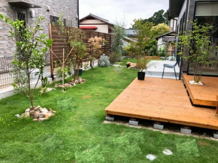 庭 公園のように開放的に遊べるお庭です!