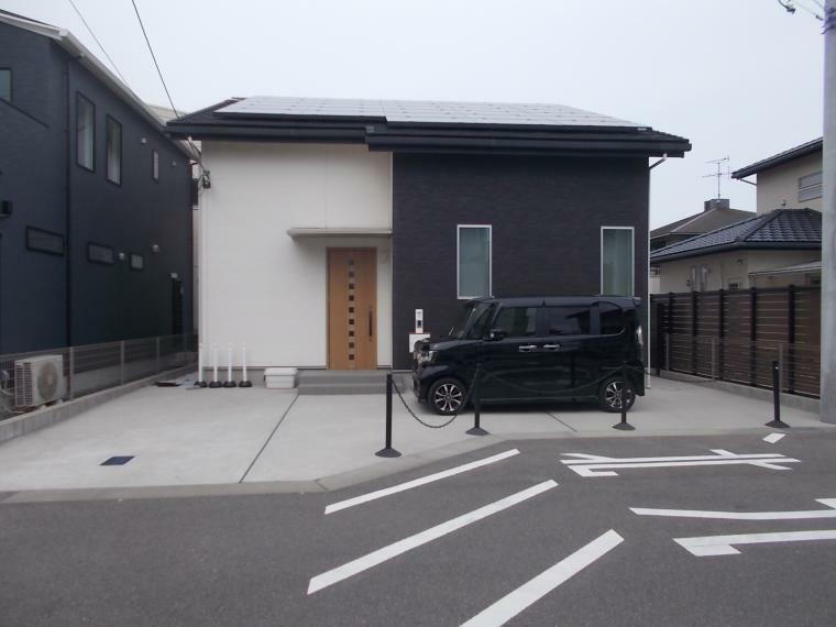 外観写真 アエラホーム施工の家、駐車場3台可