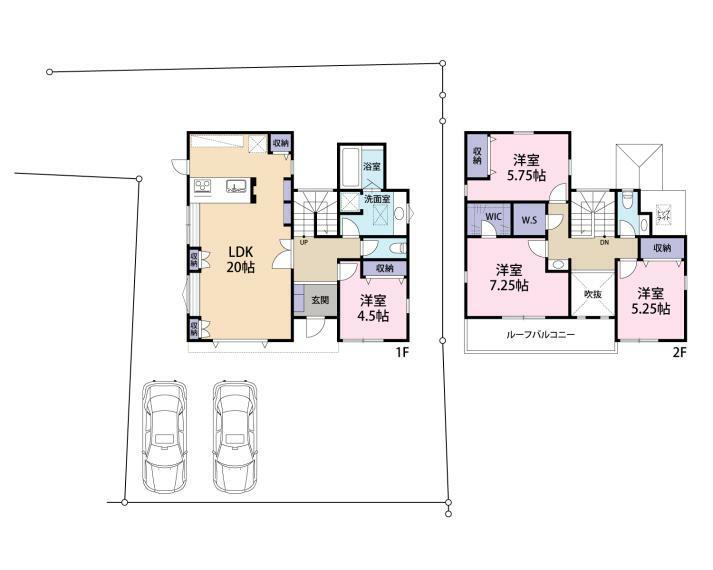 参考プラン間取り図 建物115平米 建物本体価格:2480万円(税込)
