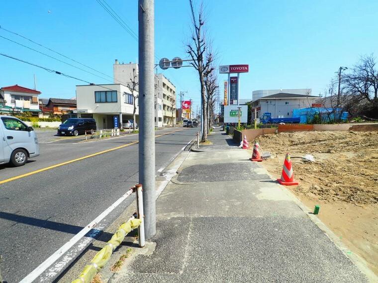 現況外観写真 見通しの良い直線道路です。 2021年3月11日撮影