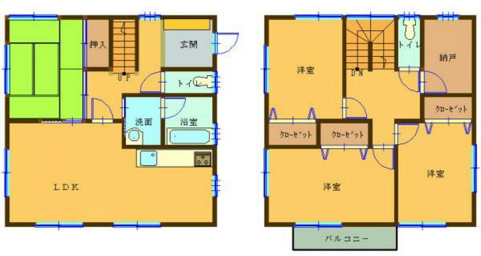 間取り図 【リフォーム中】1階も2階も同じ大きさになるお家です。水廻りは全て交換し、床、壁クロス、天井はすべて新しいものへと張替予定です。