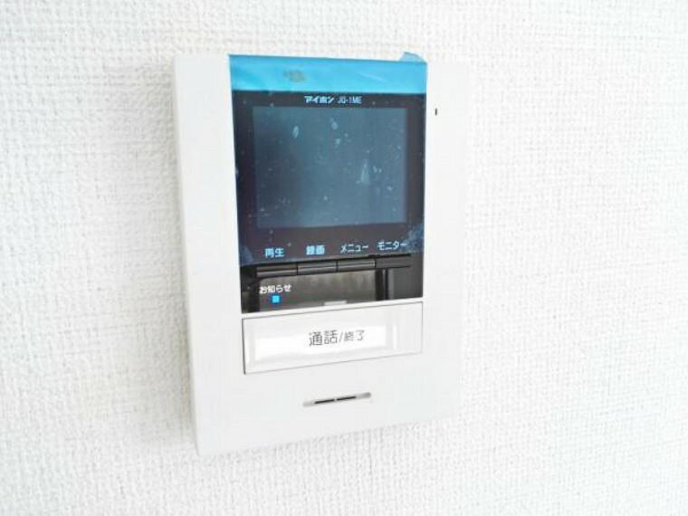 防犯設備 TVモニター付インターホン(施工例)