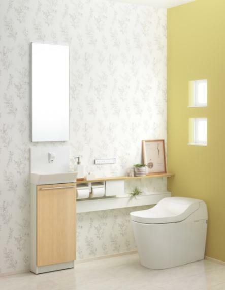 トイレ 【同仕様】タンクレストイレ 水道代節約!(造り付け収納、鏡は含みません。)