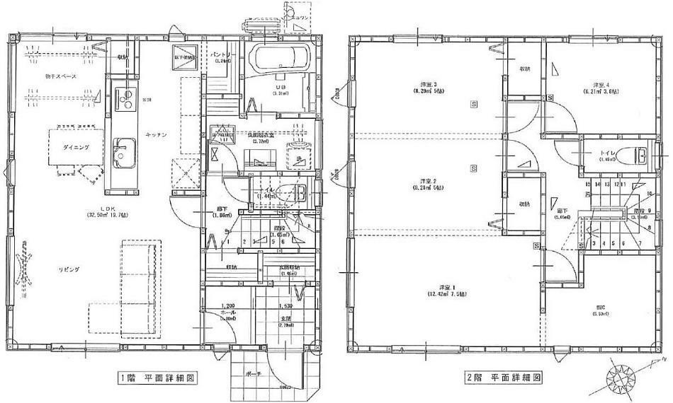 間取り図 2180万円、4LDK、土地面積178.75m2、建物面積105.98m2