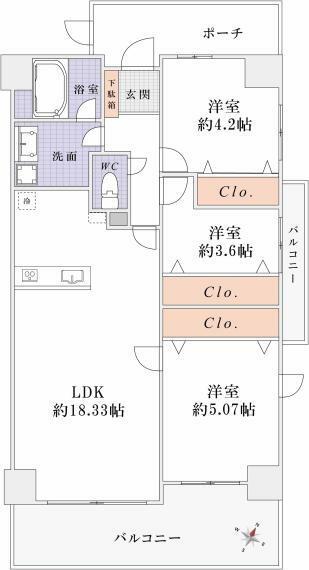 間取り図 <オプション工事> 3LDKプラン:54万円(税込)