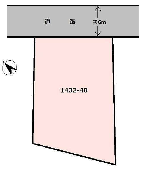 区画図 ・土地価格1150万円 ・土地面積312.76m2   北東側公道(幅員約6m)に約14m接する