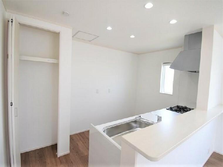 B号棟:キッチン(別角度)・・・レトルト食品の買い置きに便利にお使い頂けます。